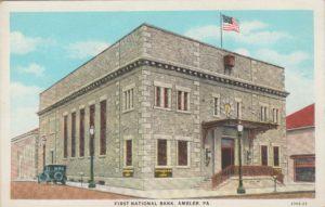4125.62 Ambler Pa Postcard_First National Bank