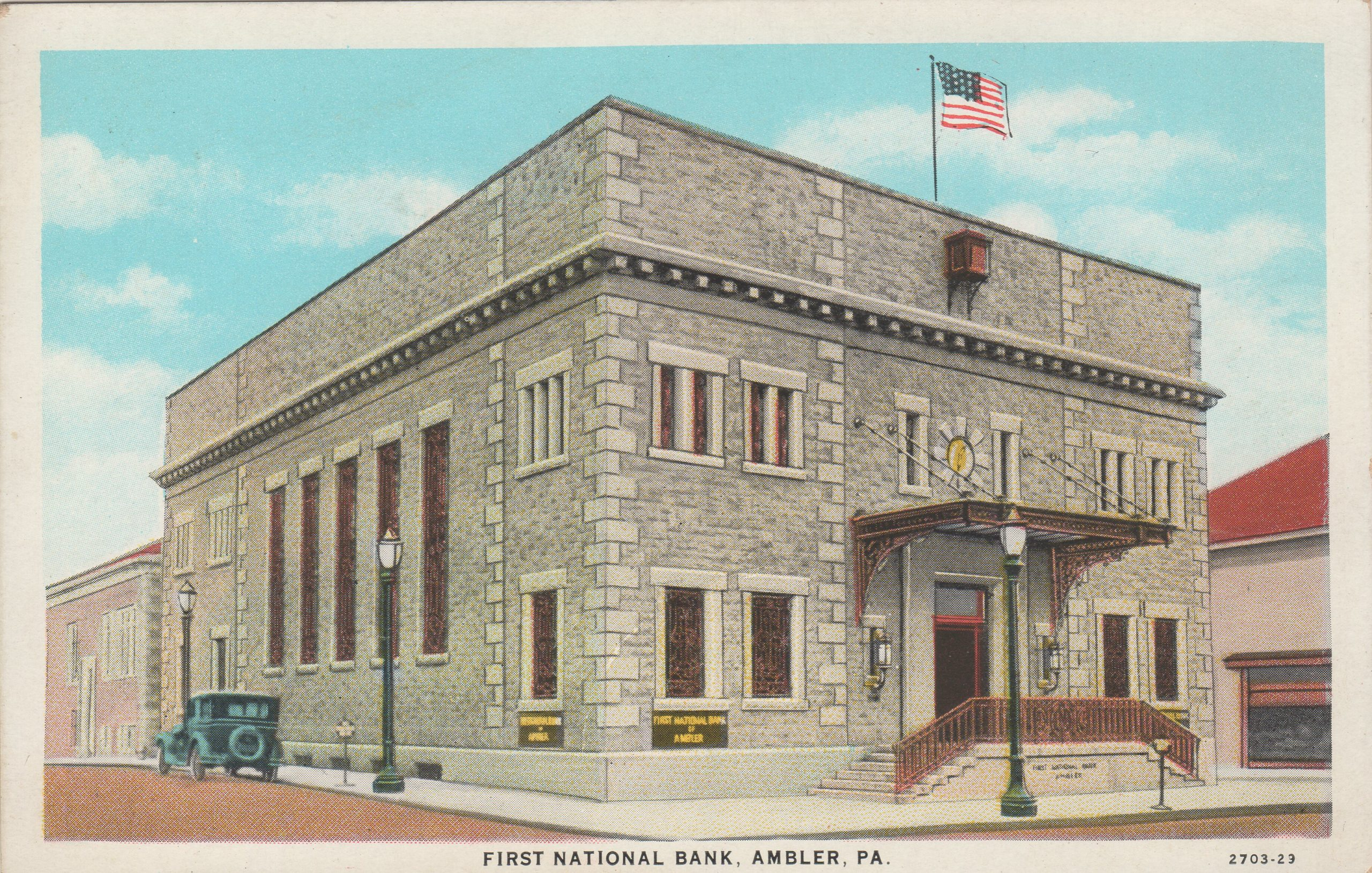 4125.62 Ambler Pa Postcard_First National Bank