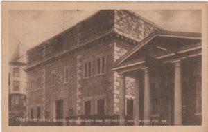 4125.63 Ambler Pa Postcard_First National Bank_Organized 1894 Rebuilt 1923