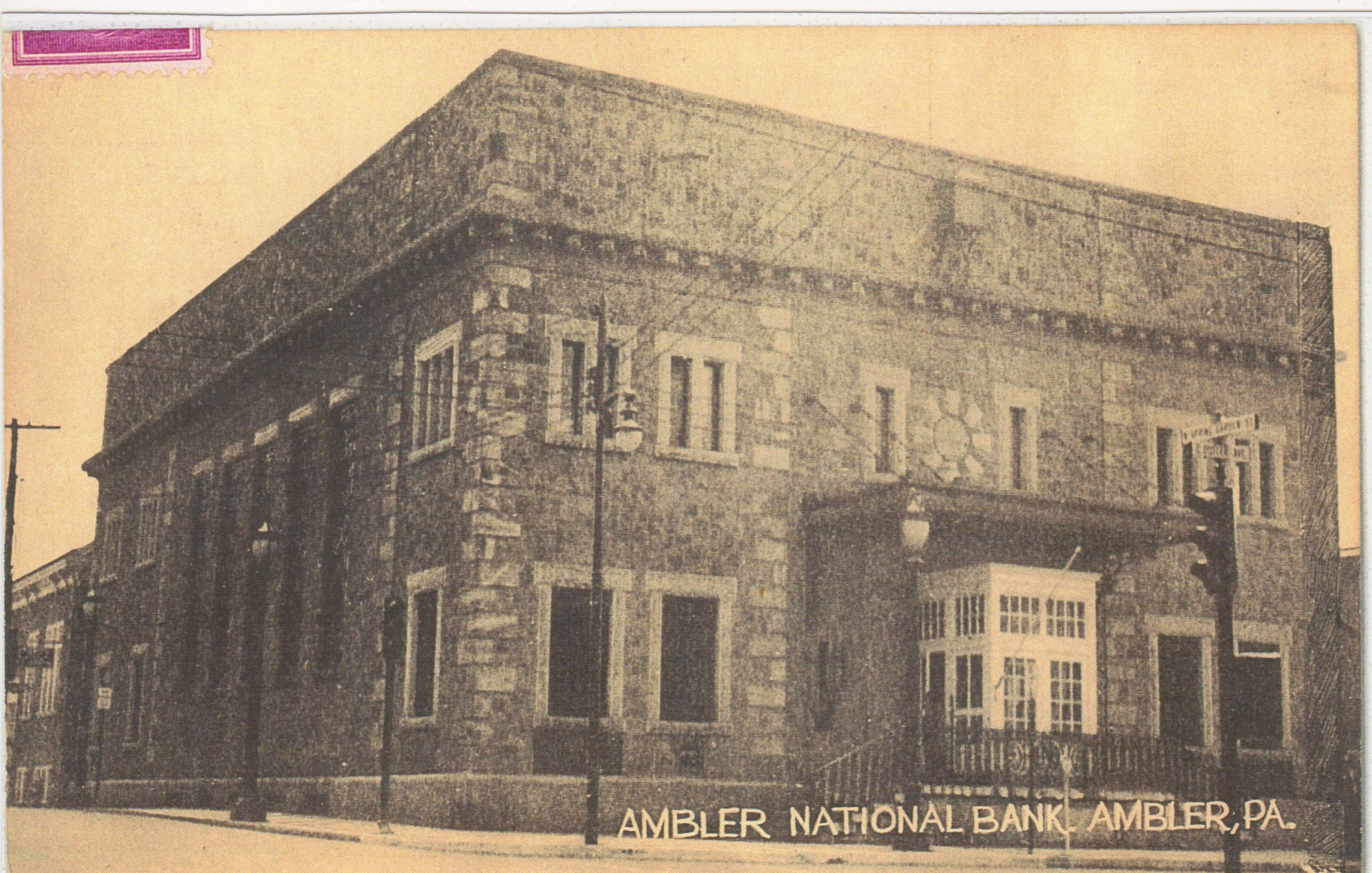 4125.64 Ambler Pa Postcard_Ambler National Bank