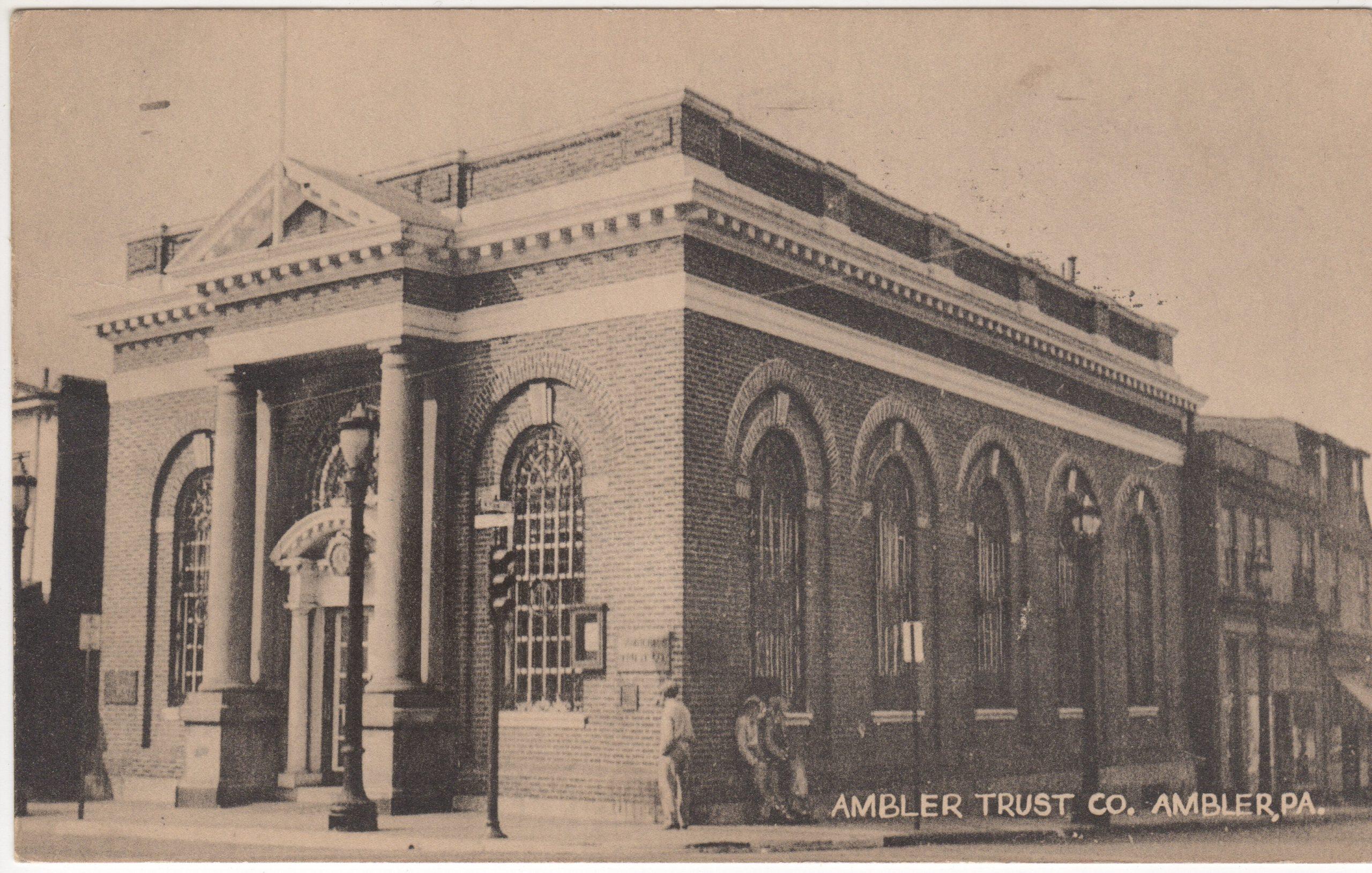 4125.65 Ambler Pa Postcard_Ambler Trust Co (2)