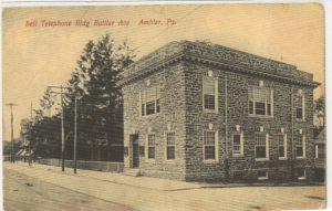 4125.67 Ambler Pa Postcard_Bell Telephone Bldg Butler Ave_circa 1911