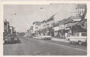 4125.71 Ambler Pa Postcard_Butler Ae Business District_circa 1964