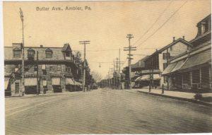 4125.75 Ambler Pa Postcard_Butler Avenue_circa 1905