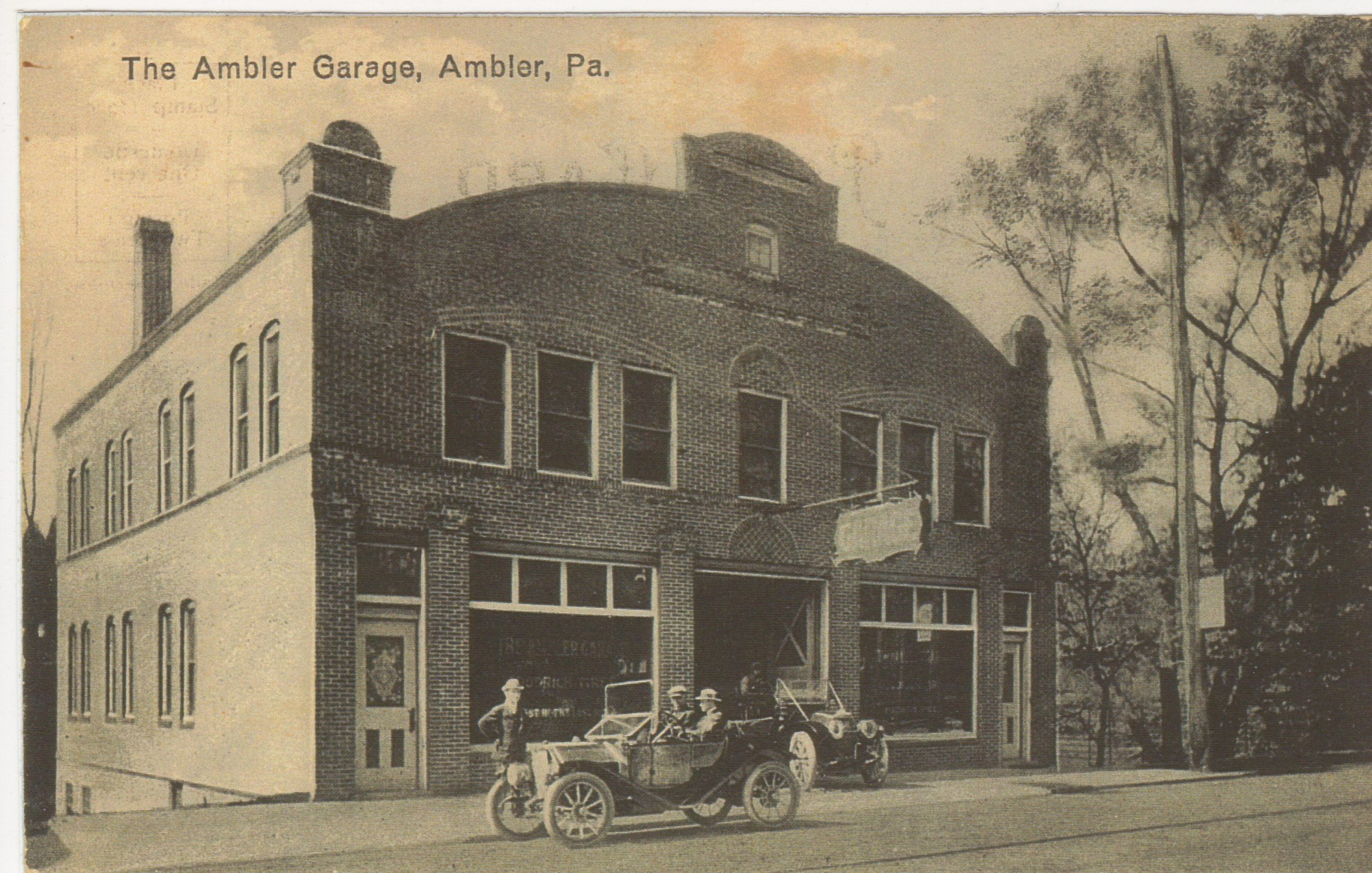 4125.79 Ambler Pa Postcard_The Ambler Garage