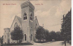 4125.8 Ambler Pa Postcard_1st Mt Pleasant Baptist Church