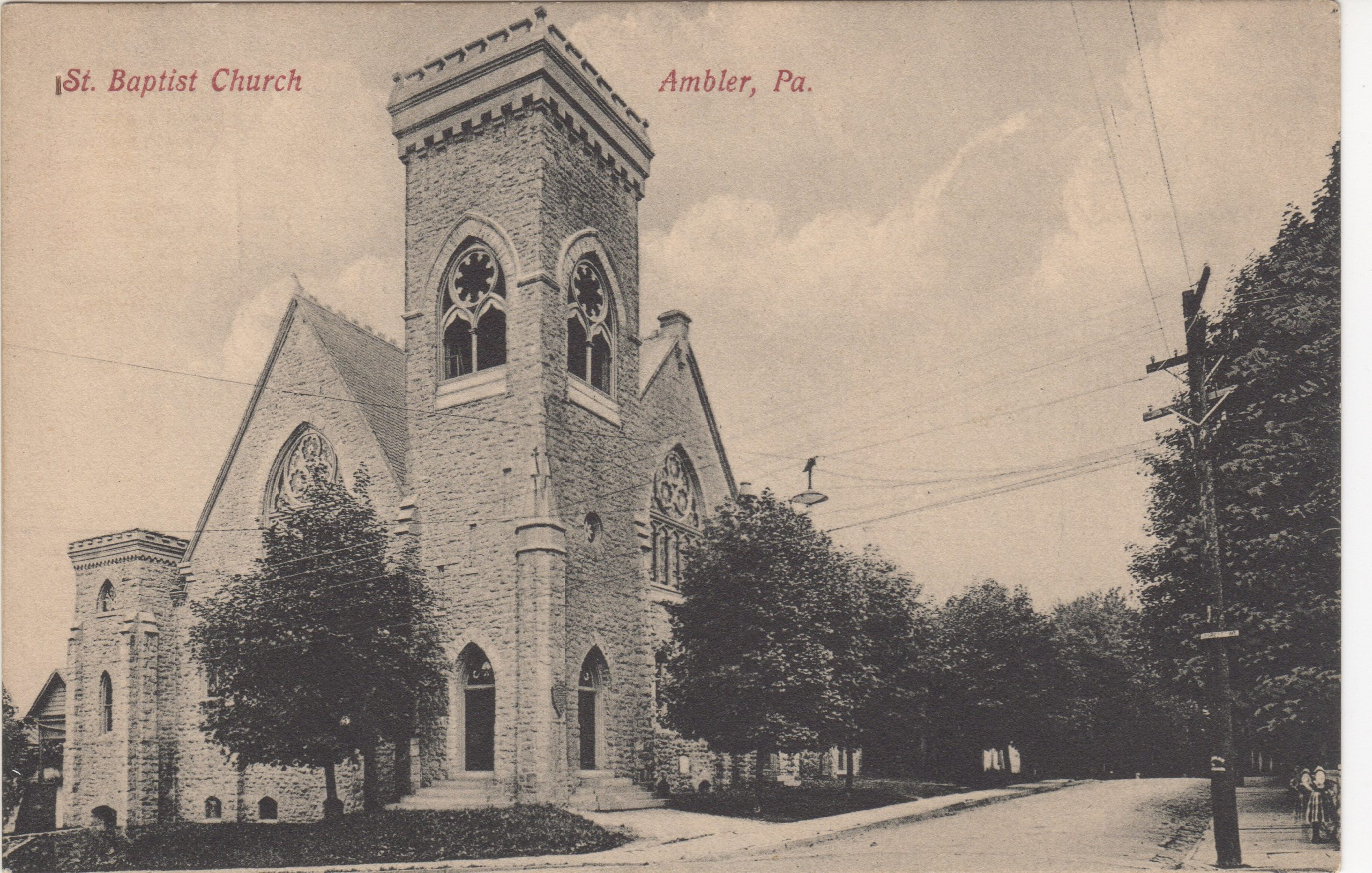 4125.8 Ambler Pa Postcard_1st Mt Pleasant Baptist Church