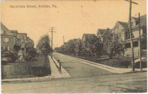 4125.81 Ambler Pa Postcard_Hendricks Street_circa 1919