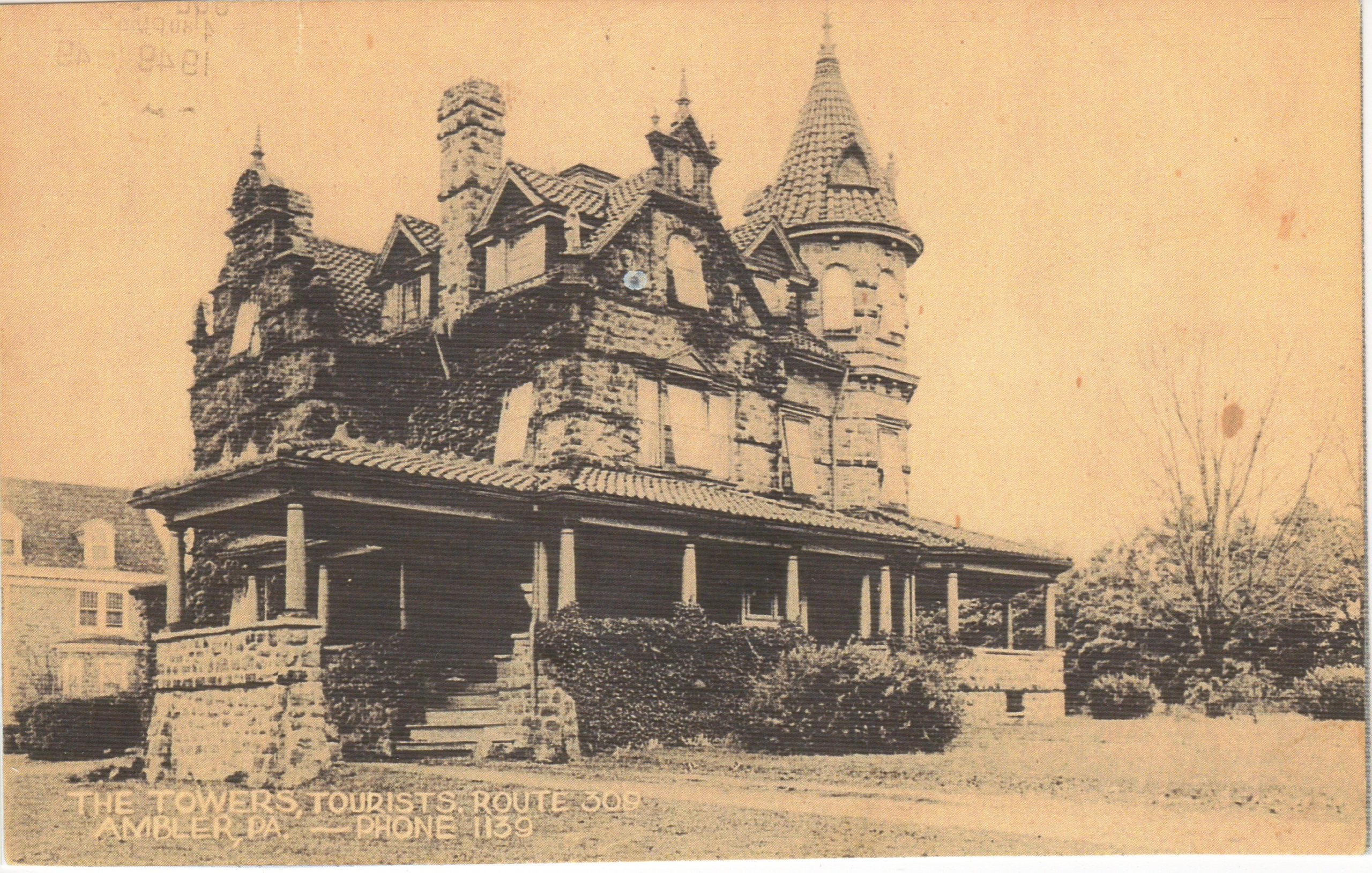 4125.85 Ambler Pa Postcard_The Towers