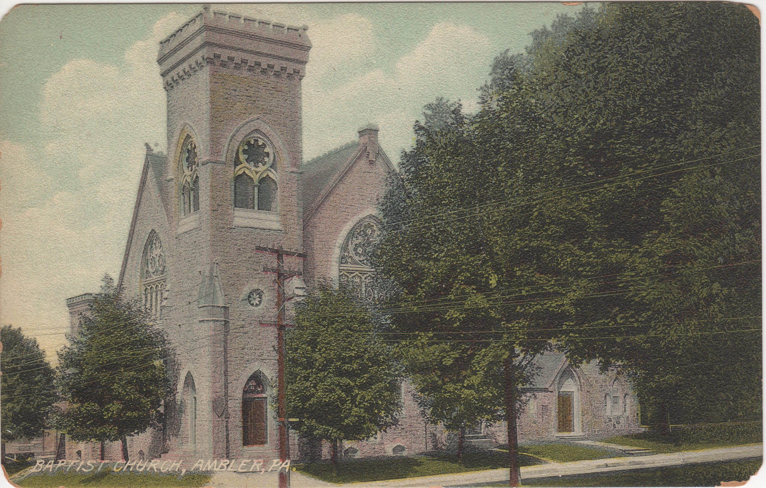 4125.9 Ambler Pa Postcard_Mt Pleasant Baptist Church (2)