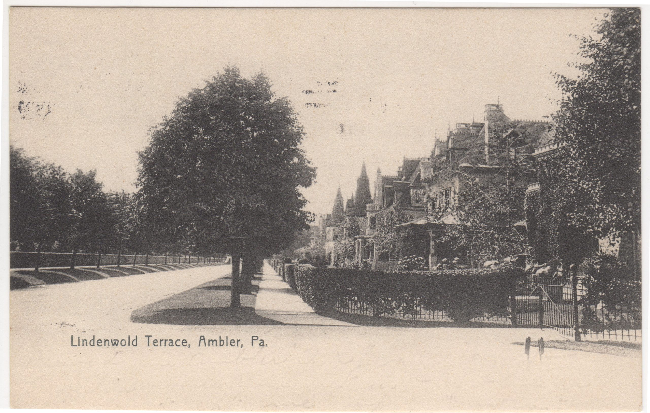 4125.90 Ambler Pa Postcard_Lindenwold Terrace_circa 1907