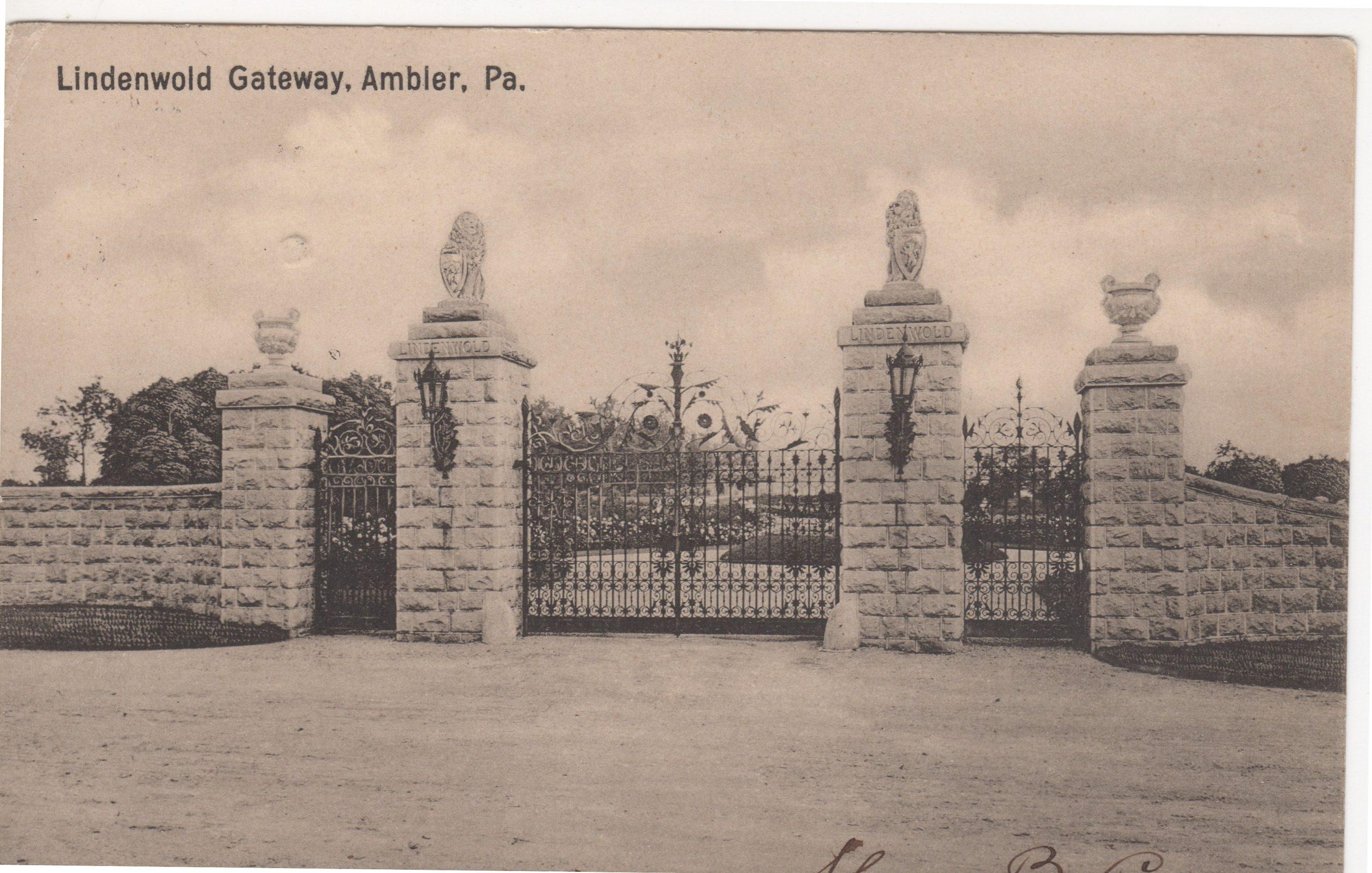 4125.97 Ambler Pa Postcard_Lindenwold Gateway_ circa 1904