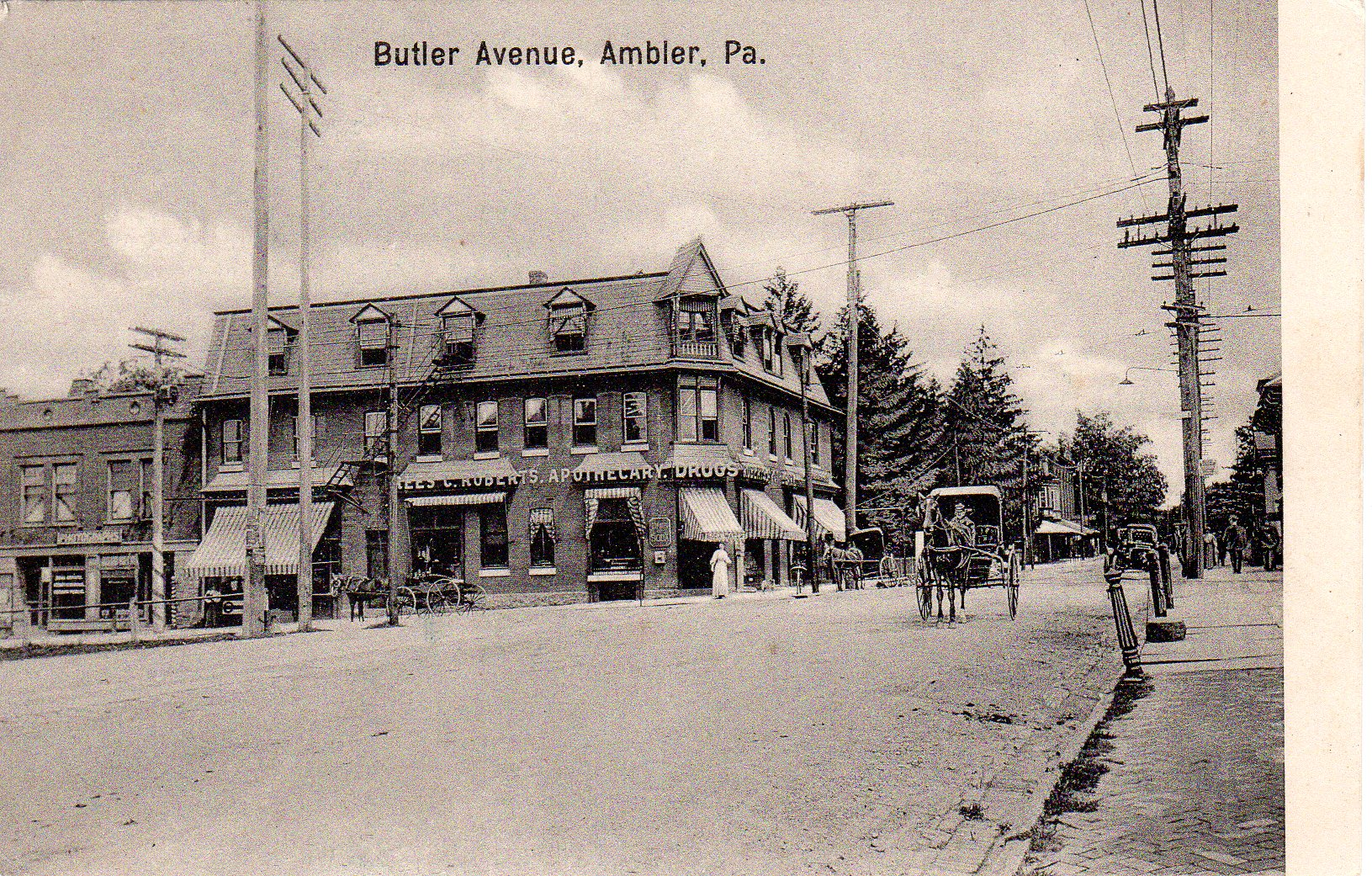 Post Card Collection (E Simon)_2682_01_Butler Ave, Ambler, Pa