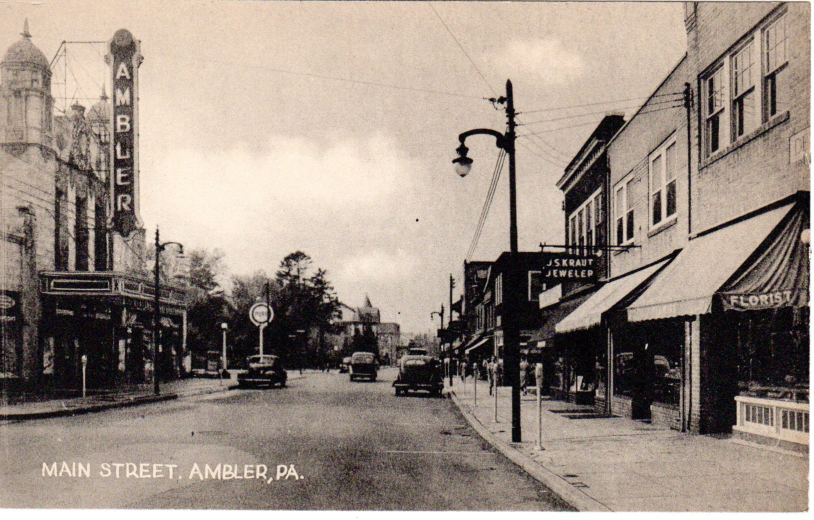 Post Card Collection (E Simon)_2682_02_Main St, Ambler, Pa