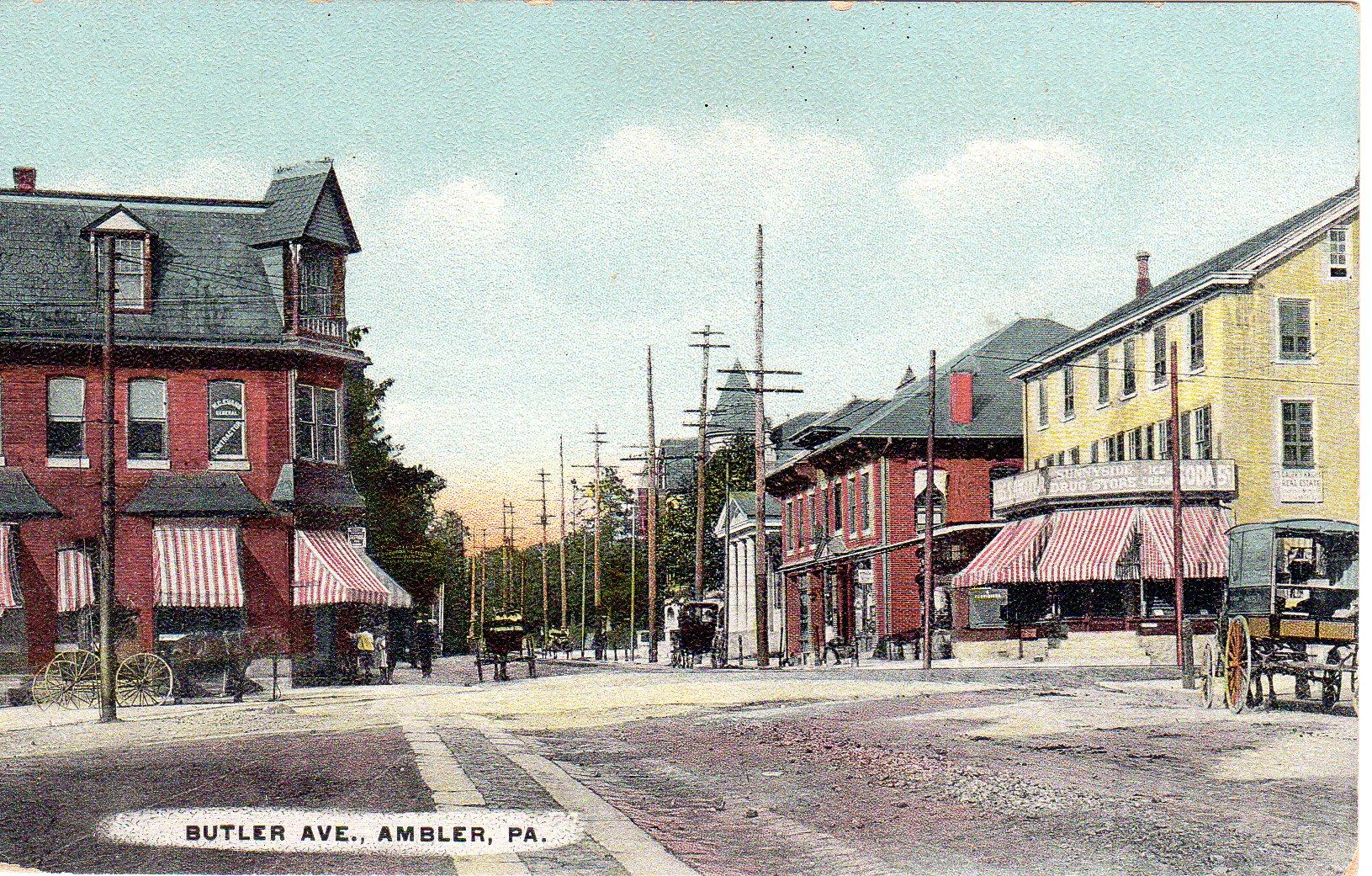 Post Card Collection (E Simon)_2682_04_Butler Ave, Ambler, Pa