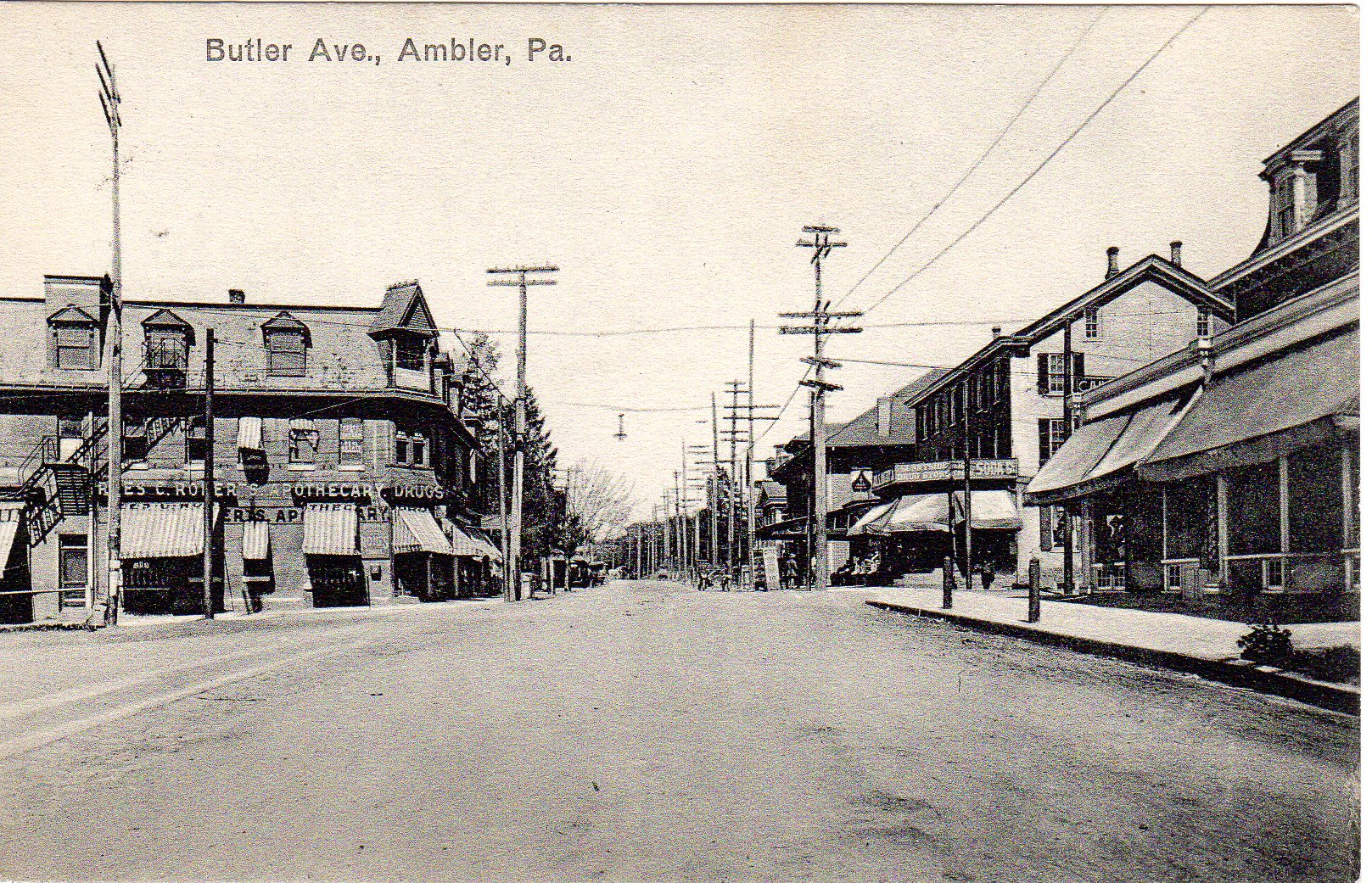 Post Card Collection (E Simon)_2682_08_Butler Ave, Ambler, Pa_c 1905