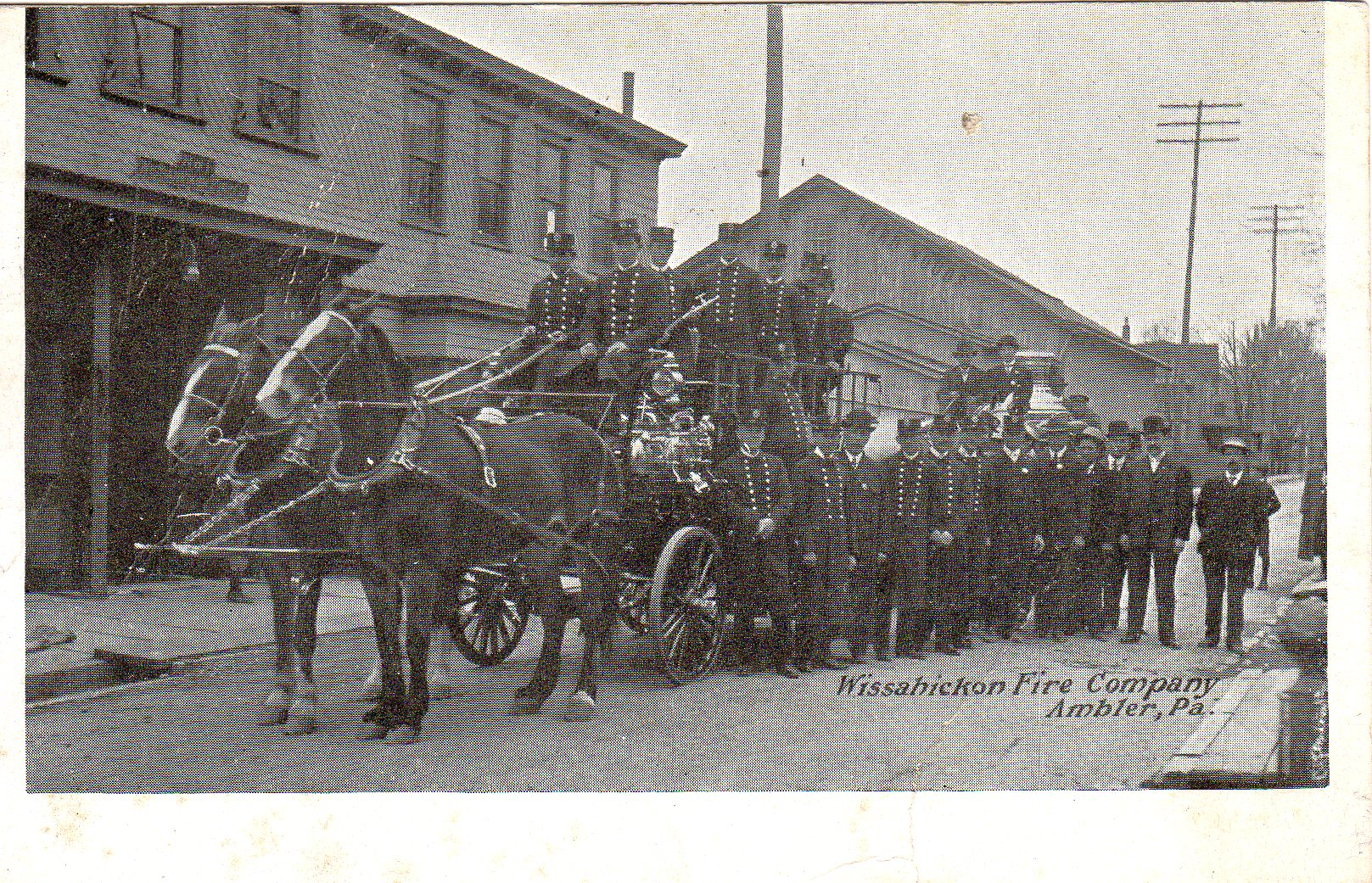 Post Card Collection (E Simon)_2682_12_Wissahickon Fire Company, Ambler, Pa_1908