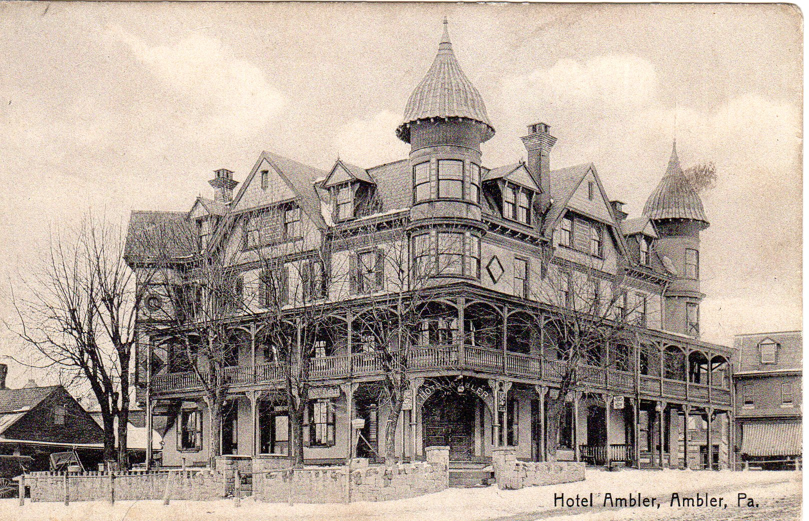 Post Card Collection (E Simon)_2682_15_Hotel Ambler, Ambler, Pa