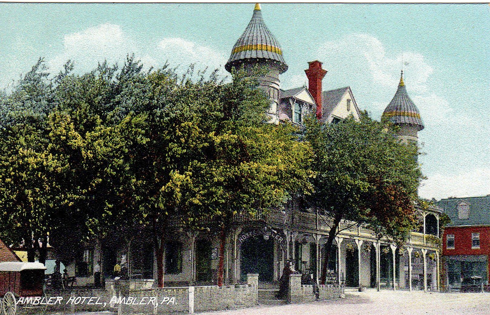 Post Card Collection (E Simon)_2682_16_Ambler Hotel, Ambler, Pa