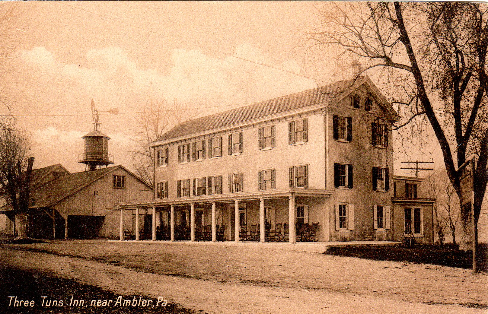 Post Card Collection (E Simon)_2682_17_Three Tuns Inn, Near Ambler