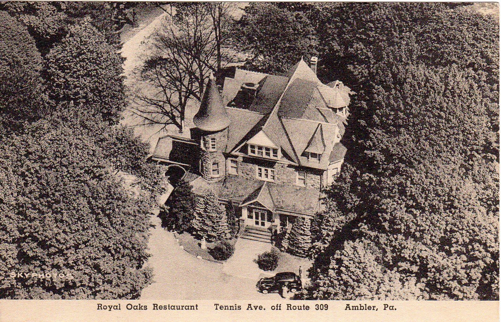 Post Card Collection (E Simon)_2682_18_ Royal Oaks Restaurant, Tennis Ave (off Rt 309) Ambler, Pa_1950