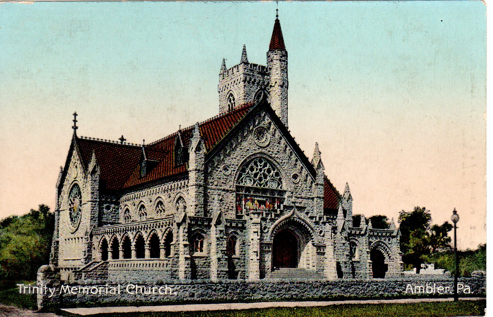 Post Card Collection (E Simon)_2682_21_Trinity Memorial Church, Ambler, Pa