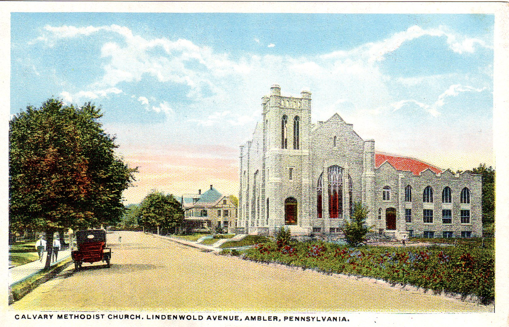 Post Card Collection (E Simon)_2682_22_Calvary Methodist Church, Lindenwold Ave, Ambler, Pa