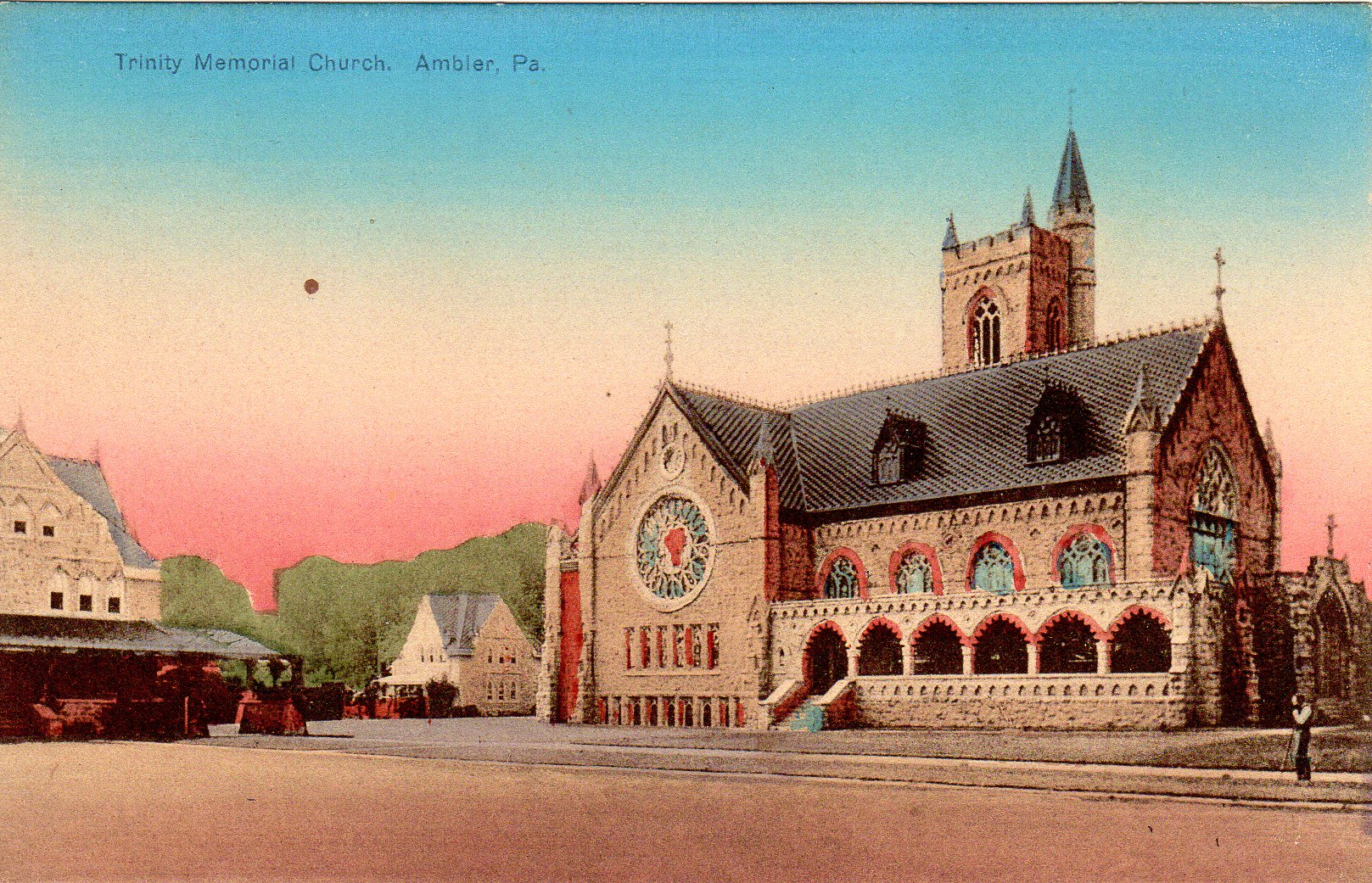 Post Card Collection (E Simon)_2682_23_Trinity Memorial Church, Ambler, Pa
