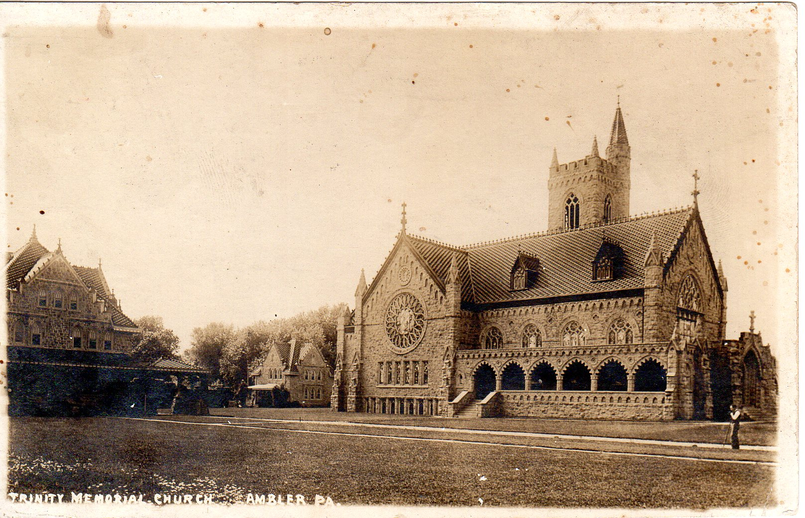 Post Card Collection (E Simon)_2682_24_Trinity Memorial Church, Ambler, Pa