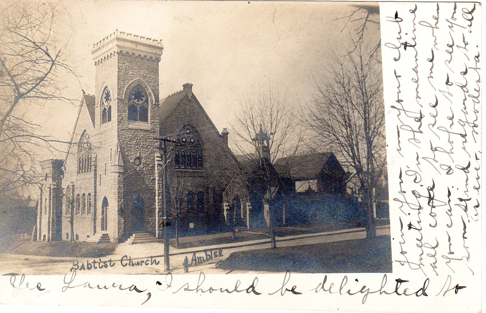 Post Card Collection (E Simon)_2682_26_Mt Pleasant Baptist Church, Ambler, Pa_Sep 1901