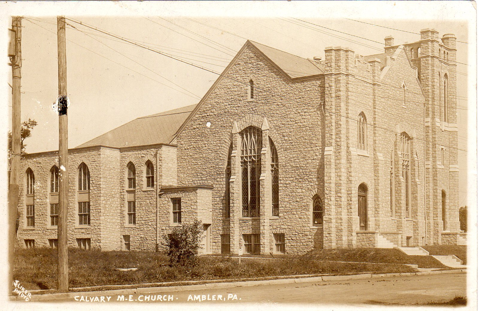 Post Card Collection (E Simon)_2682_29_Calvary M E Church, Ambler, Pa