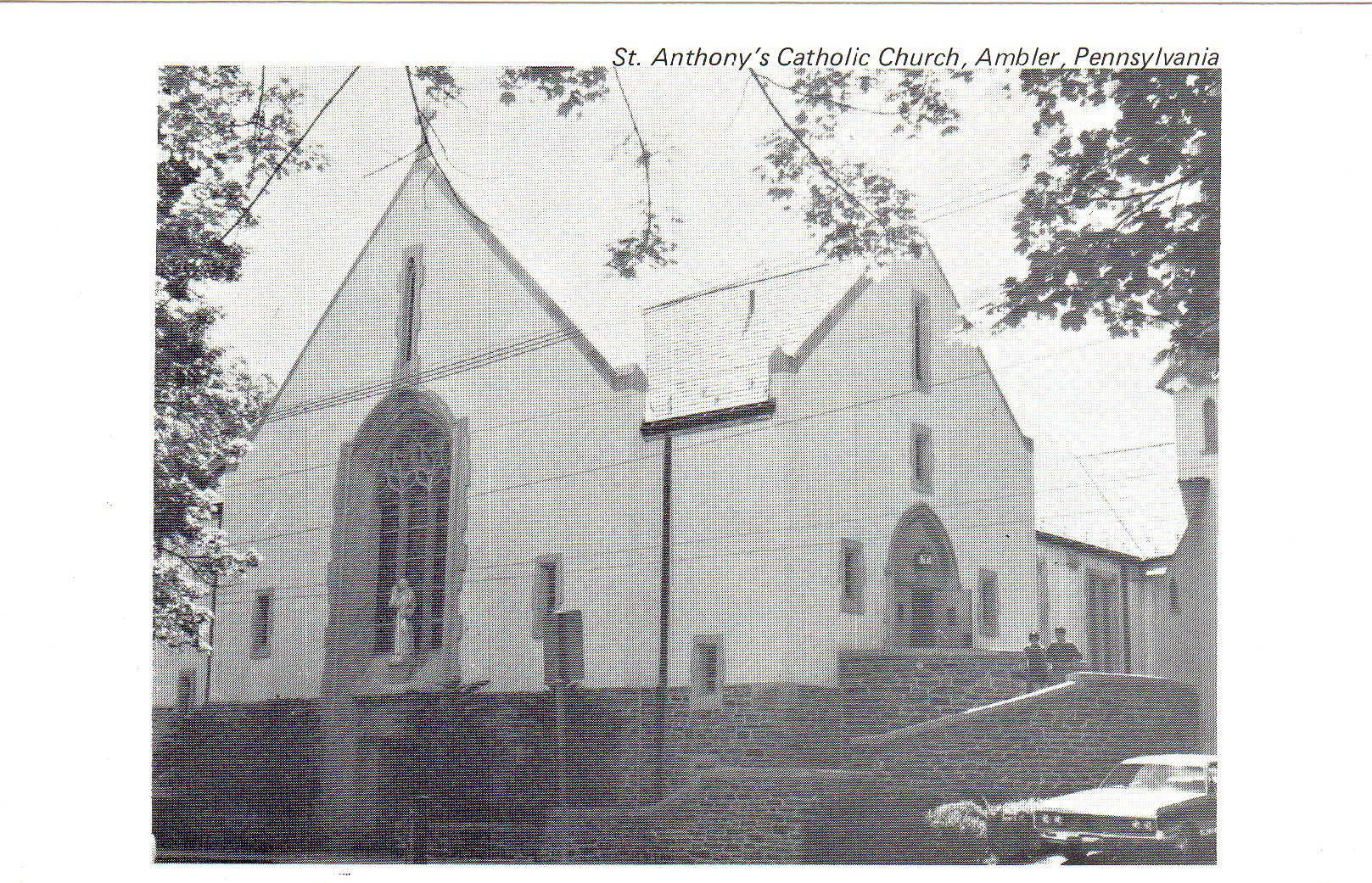 Post Card Collection (E Simon)_2682_30_St Anthonys Catholic Church, Ambler, Pa