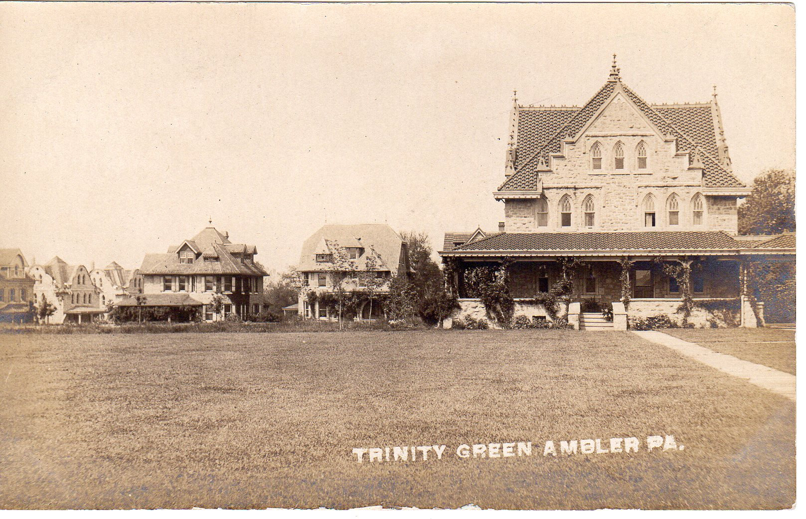 Post Card Collection (E Simon)_2682_32_Trinity Green, Ambler, Pa