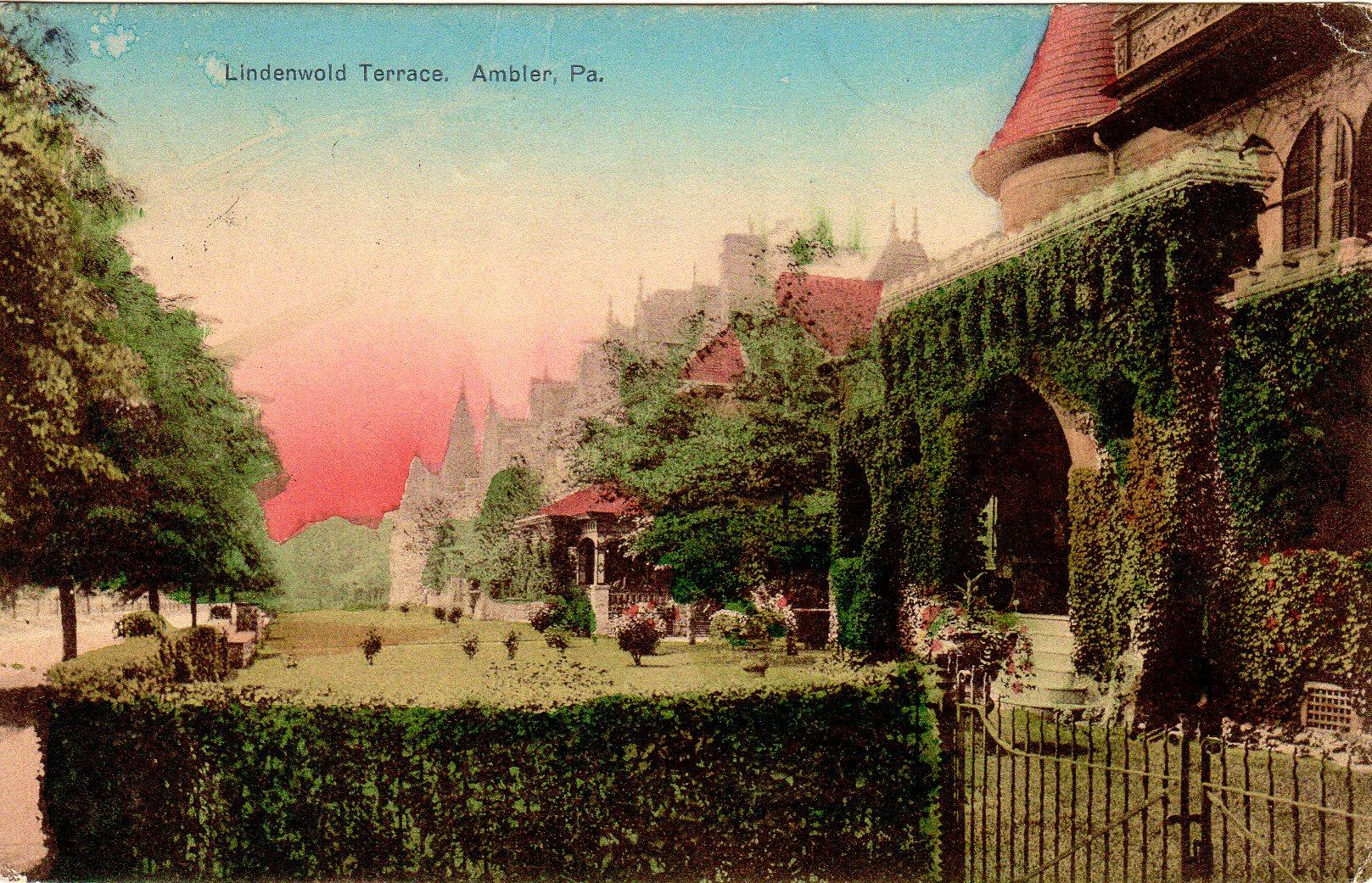 Post Card Collection (E Simon)_2682_33_Lindenwold Terrace, Ambler, Pa_17 Jul 1090