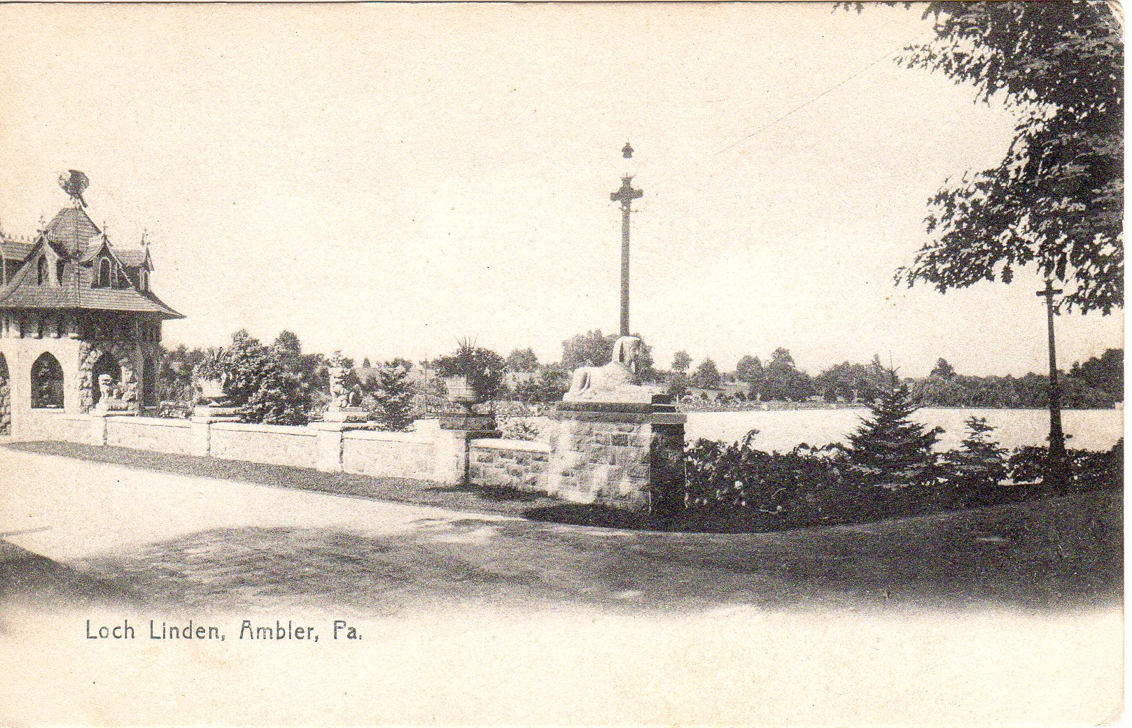 Post Card Collection (E Simon)_2682_35_Loch Linden, Ambler, Pa