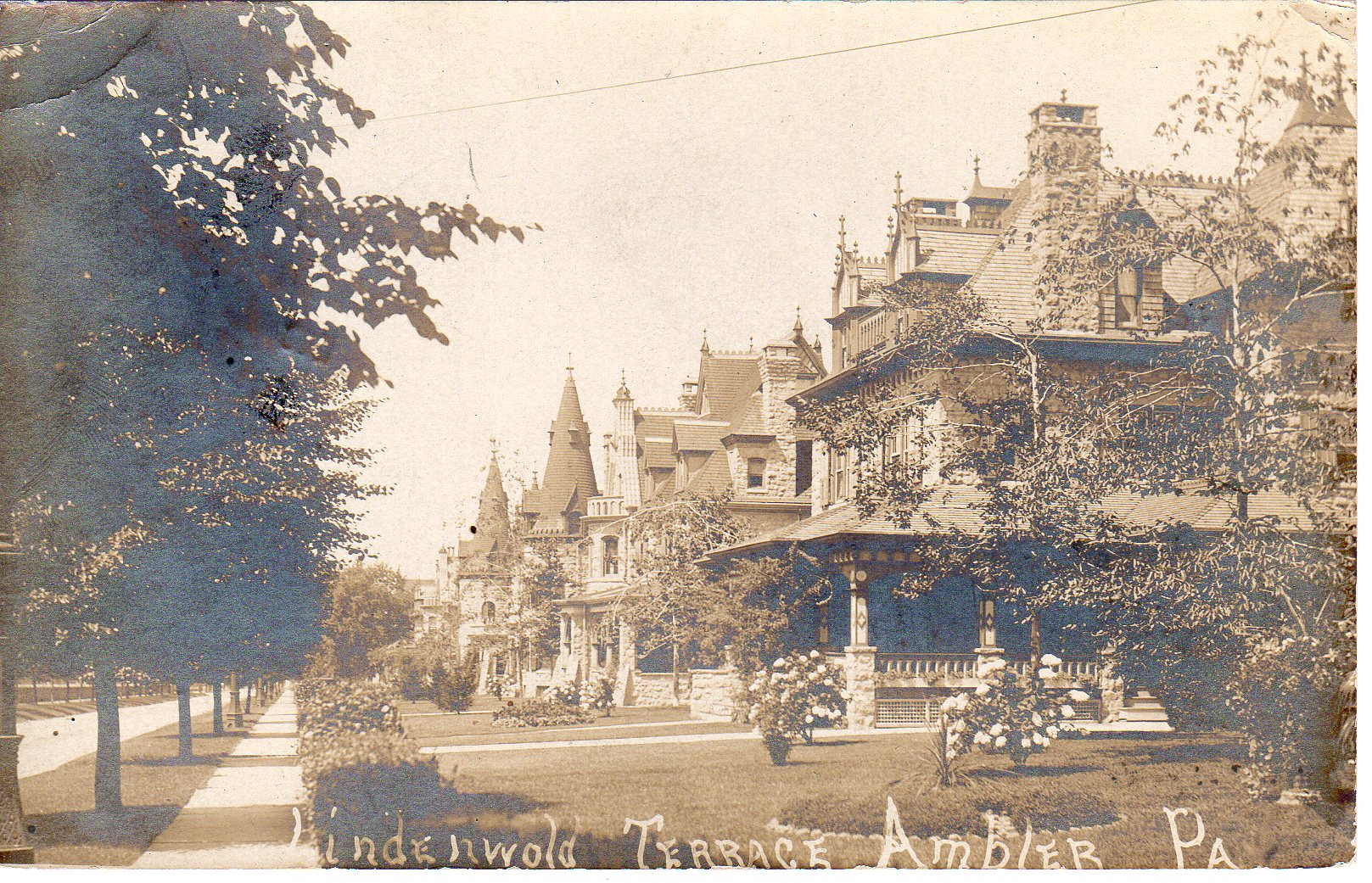 Post Card Collection (E Simon)_2682_36_Lindenwold Terrace, Ambler, Pa_9 Sep 1908