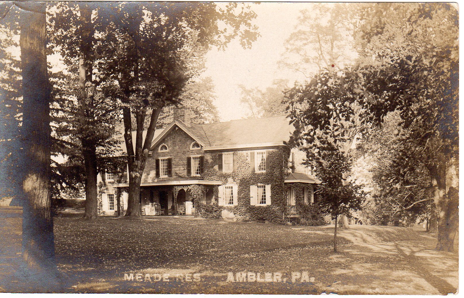 Post Card Collection (E Simon)_2682_38_Meade Residence, Ambler, Pa
