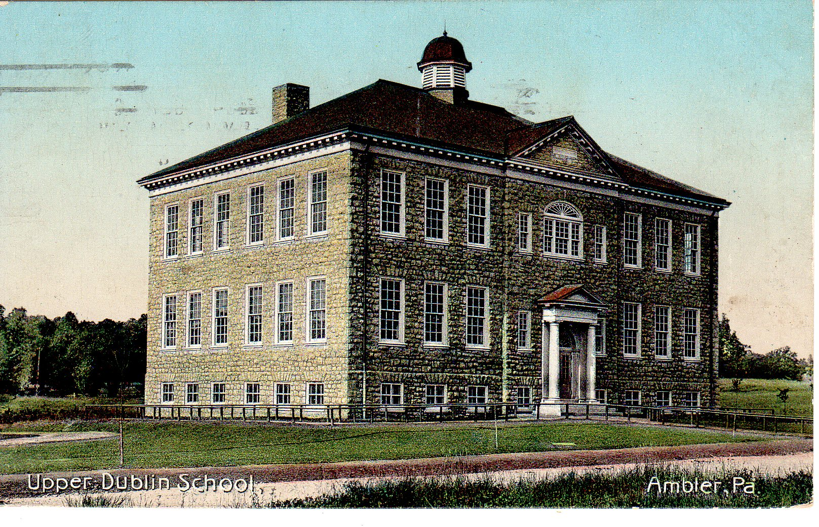 Post Card Collection (E Simon)_2682_41_Upper Dublin School, Ambler, Pa_27 Aug 1919