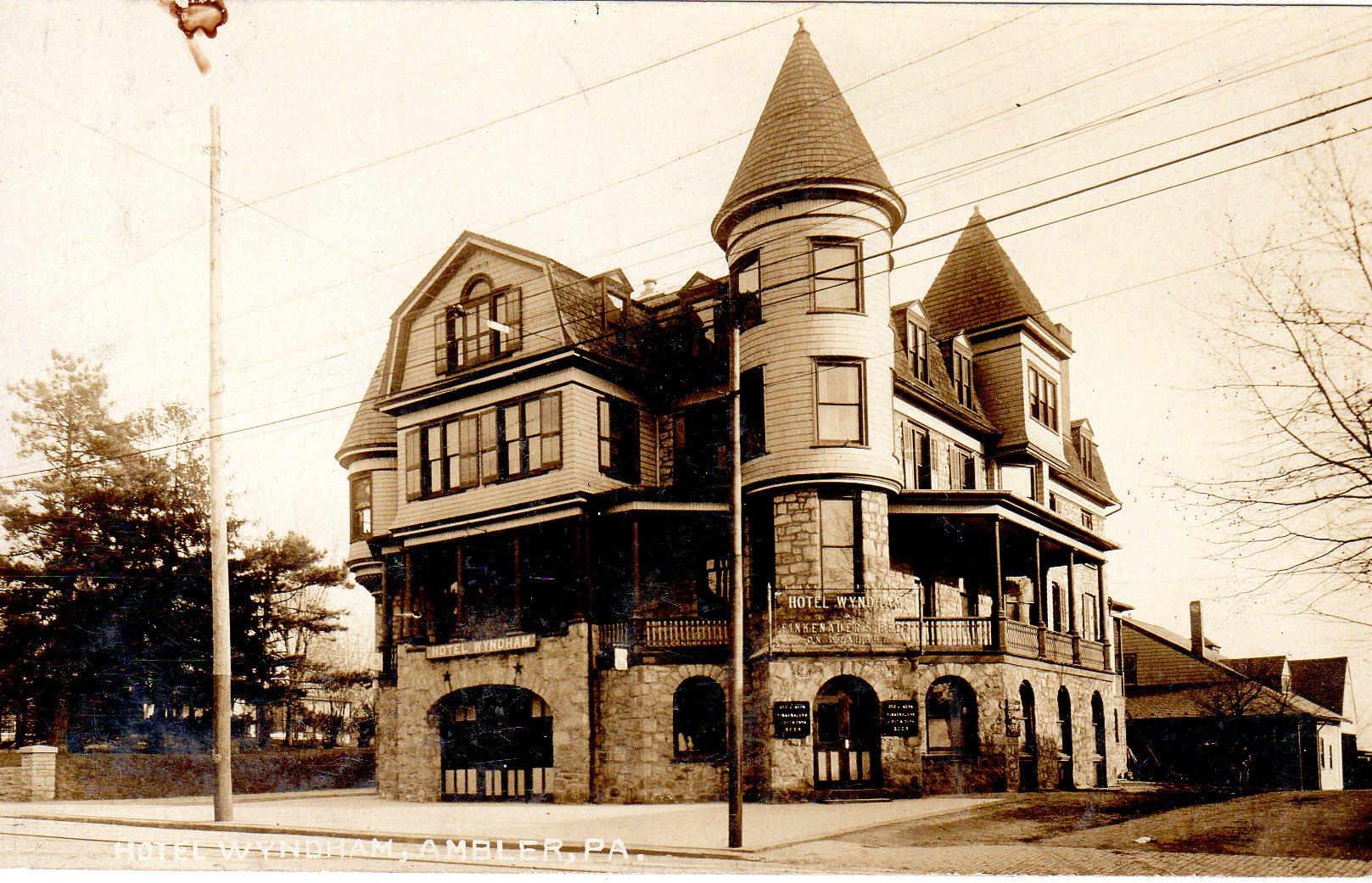 Post Card Collection (E Simon)_2682_42_Hotel Wyndham, Ambler, Pa_23 Sep 1913
