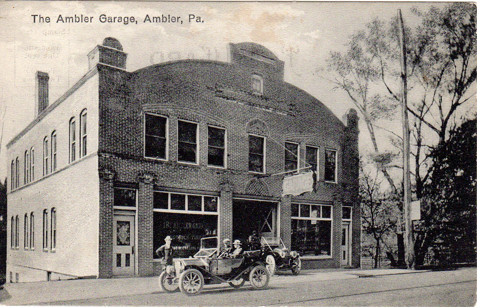 Post Card Collection (E Simon)_2682_45_The Ambler Garage, Ambler, Pa_c 1915