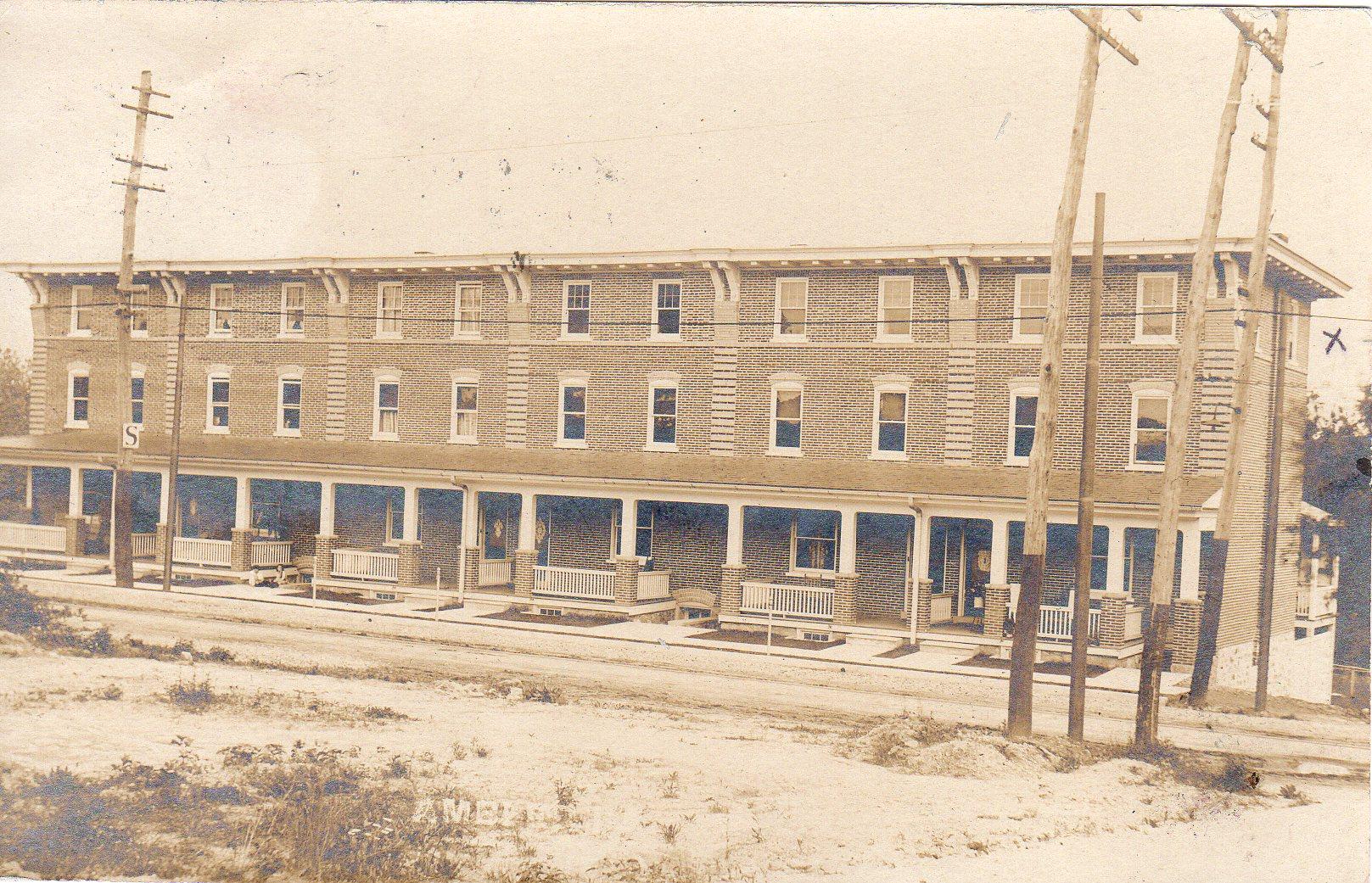 Post Card Collection (E Simon)_2682_46_Identified as Butler Pike & Bethlehem Pike, Ambler, Pa_9 Jul 1907