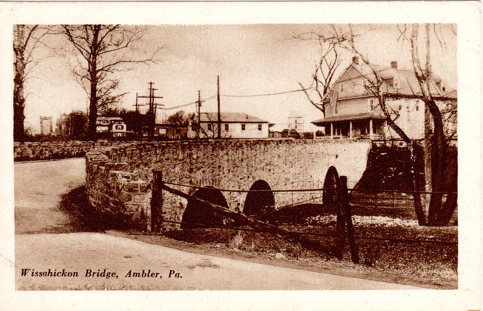 Post Card Collection (E Simon)_2682_49_Wissahickon Bridge, Ambler, Pa