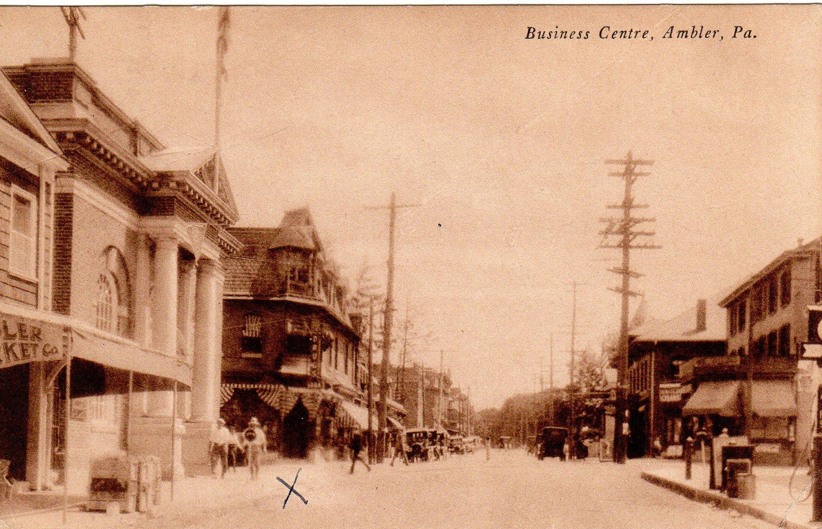 Post Card Collection (E Simon)_2682_50_Business Centre, Ambler, Pa_6 Jul 1933