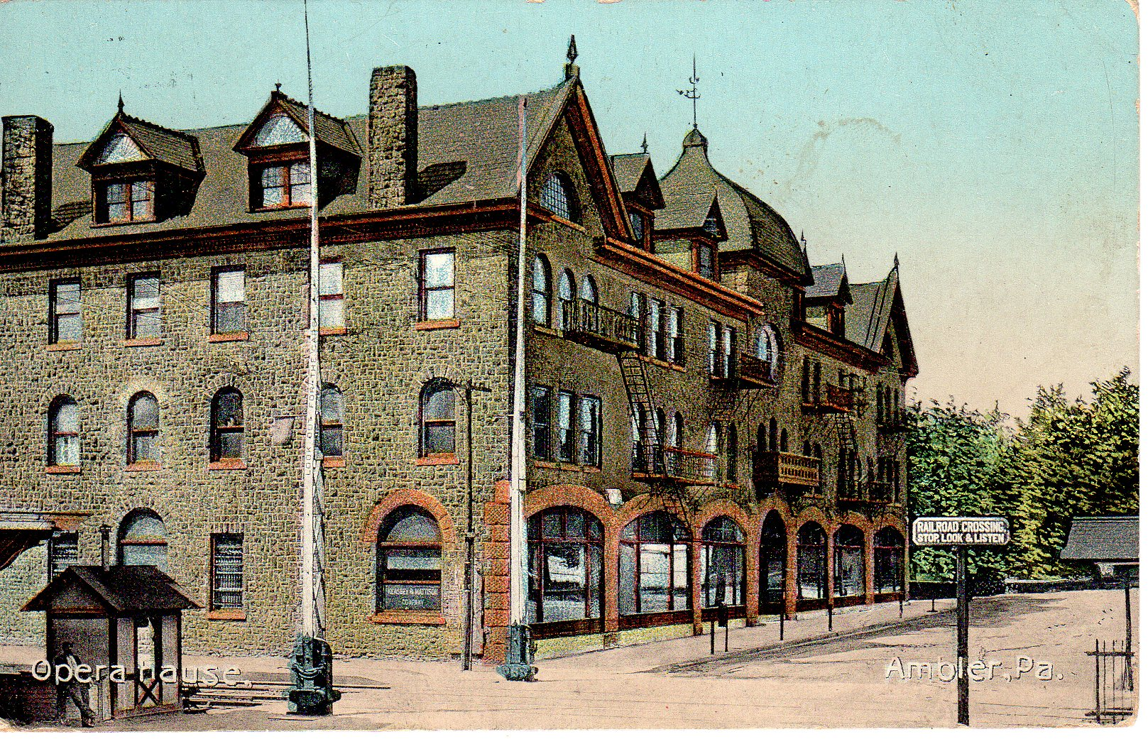 Post Card Collection (E Simon)_2682_52_Opera House, Ambler, Pa_5 Jul 1913