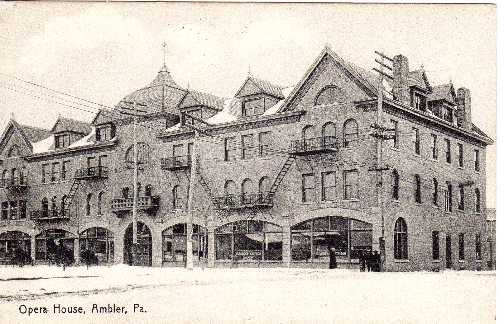 Post Card Collection (E Simon)_2682_53_Opera House, Ambler, Pa_21 May 1908