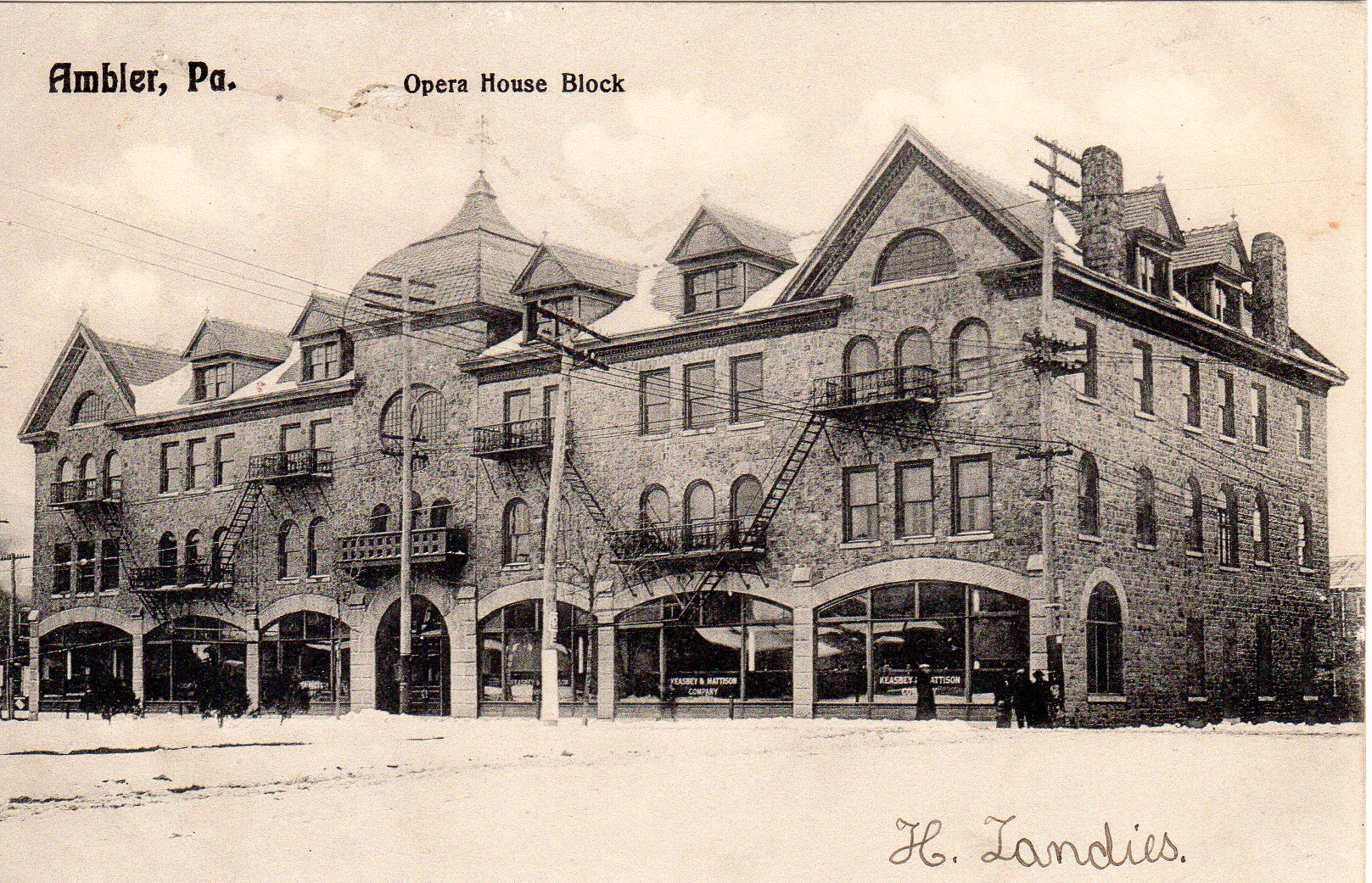 Post Card Collection (E Simon)_2682_54_Opera House Block, Ambler, Pa