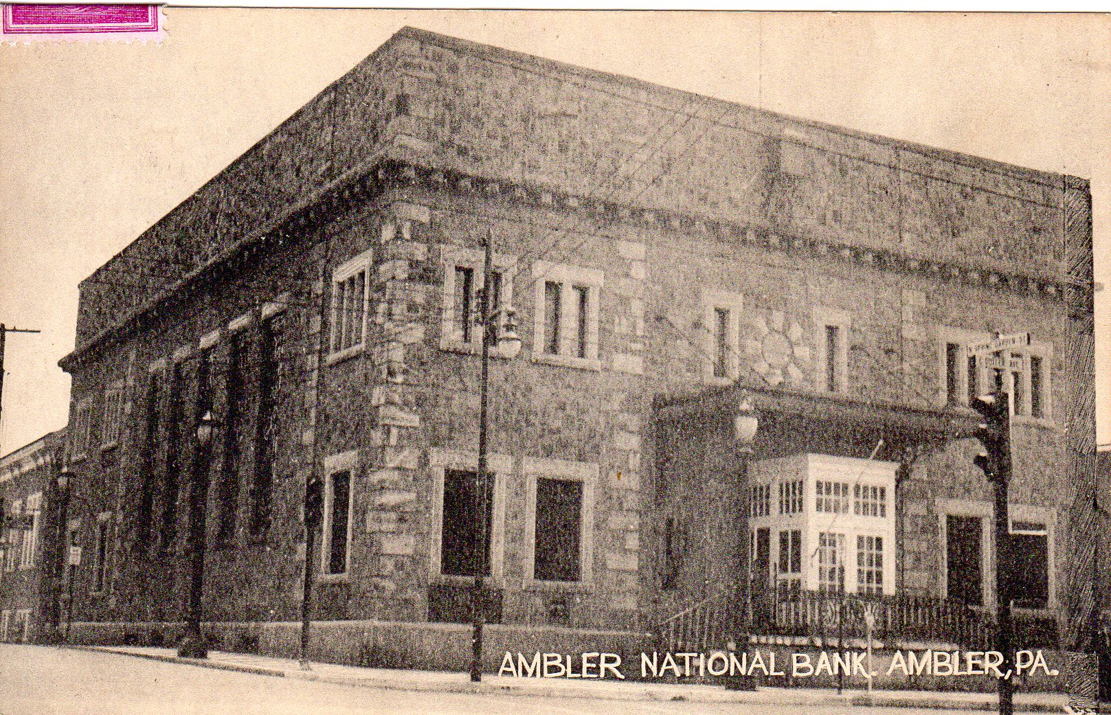 Post Card Collection (E Simon)_2682_56_Ambler National Bank, Ambler, Pa_31 May 1961