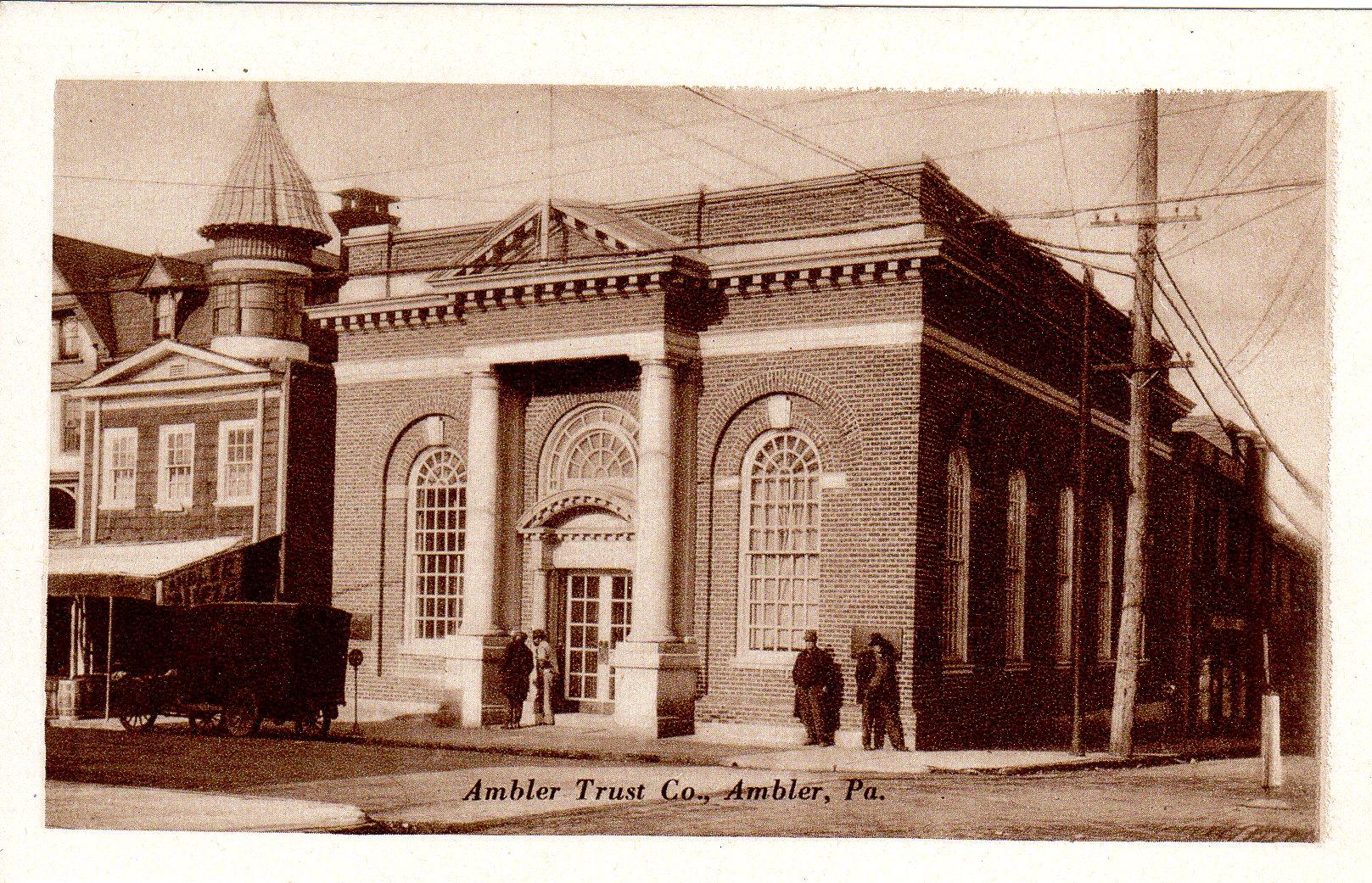 Post Card Collection (E Simon)_2682_57_Ambler Trust Co, Ambler, Pa