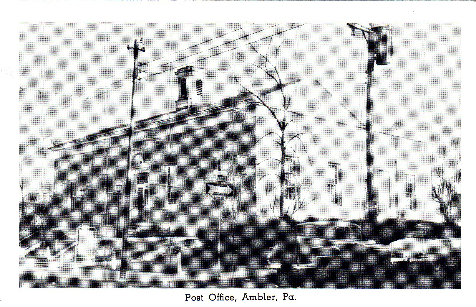 Post Card Collection (E Simon)_2682_58_Post Office, Ambler, Pa