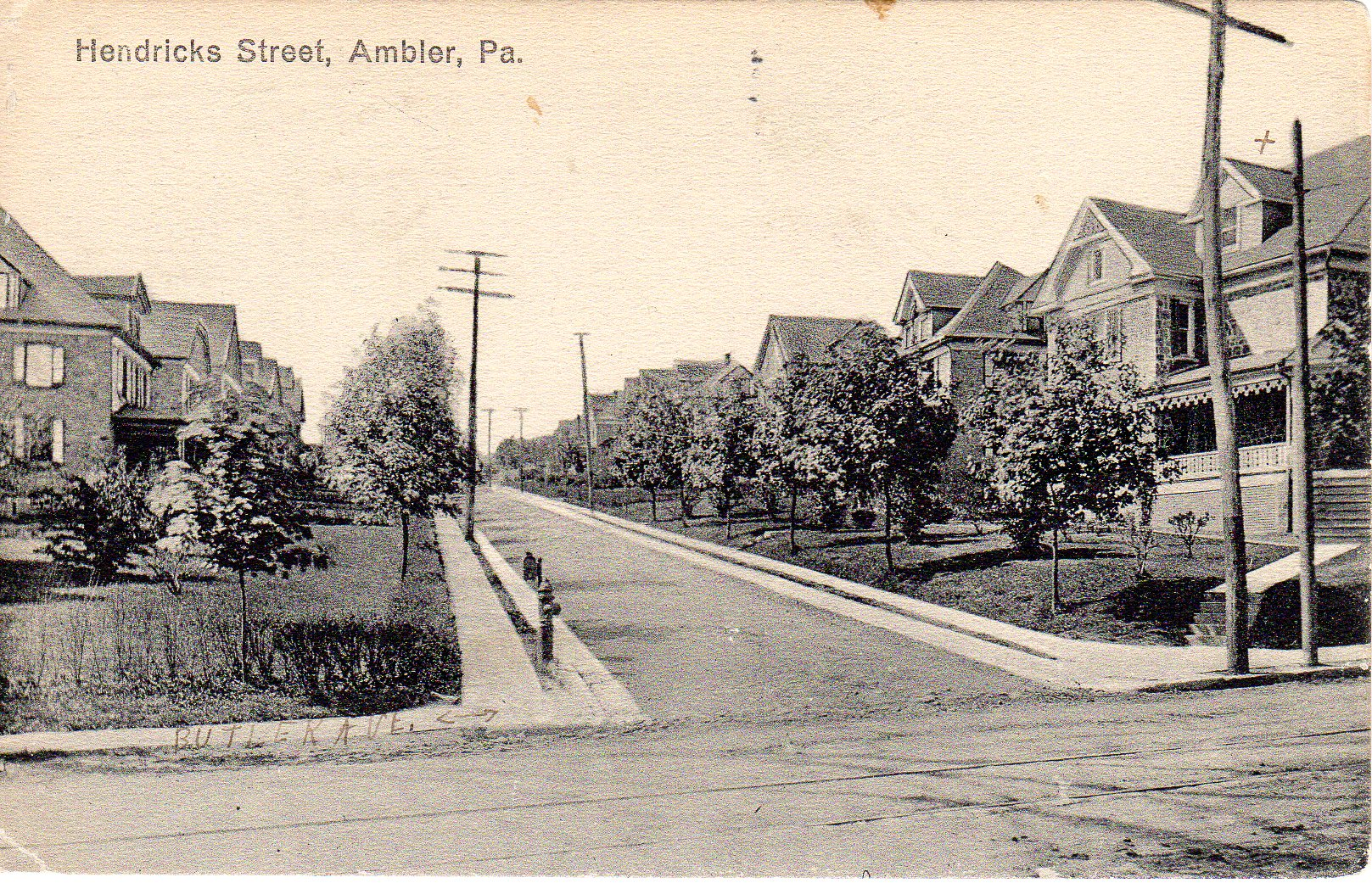 Post Card Collection (E Simon)_2682_60_Hendricks Street, Ambler, Pa_12 Feb 1919